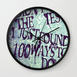 I Did Not Fail (ver. 2) Wall Clock