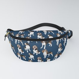 Treeing Walker Coonhounds on Navy Fanny Pack