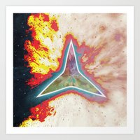 big bang Art Prints featuring Big Bang by Helle Gade