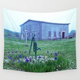 Vintage Barn Scene Wall Tapestry