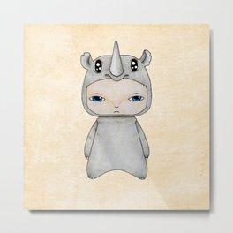 A Boy - Rhino Metal Print