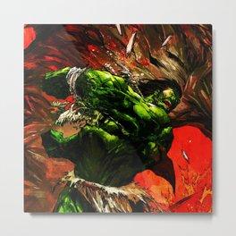 Rampage green full power Metal Print