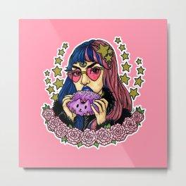 Resting Bitchface Babe Metal Print