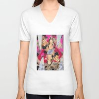 britney V-neck T-shirts featuring Britney by GREATeclectic