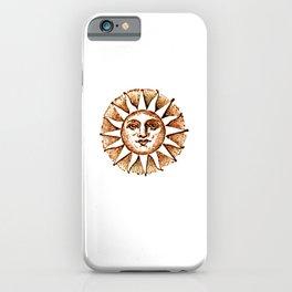 SUN VINTAGE SEPIA. iPhone Case