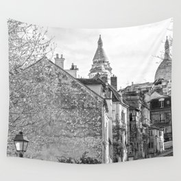Sacre Coeur view Montmartre Paris Wall Tapestry