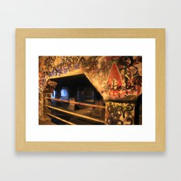 Krog Street Tunnel Framed Art Print