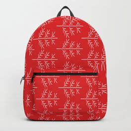 Christmas mood on red background Backpack