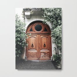 Pretty Door in Buenos Aires | Travel Photography Metal Print