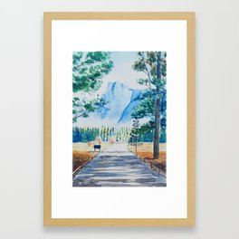 Yosemite Valley Half Dome Framed Art Print