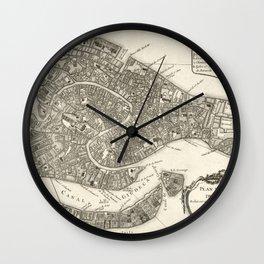 Map of Venice - 1764 Wall Clock