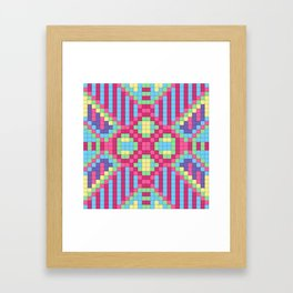 Checkerboard Squares Abstract Framed Art Print