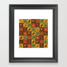 Mexican Squares Framed Art Print