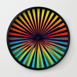 Sunset abstract 194 Wall Clock