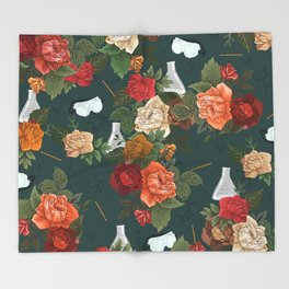 Chemistry Floral Throw Blanket
