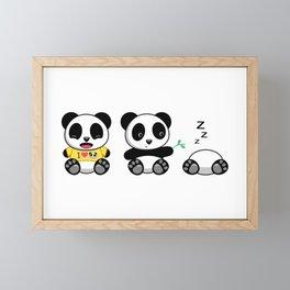 Three Little Pandas Framed Mini Art Print