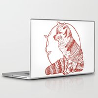coasters Laptop & iPad Skins featuring Forest Lover's Fox by KimberlyVautrin