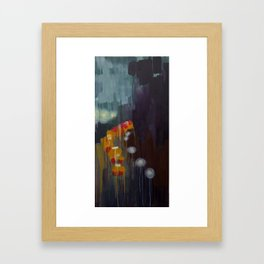 Fall Rain Framed Art Print