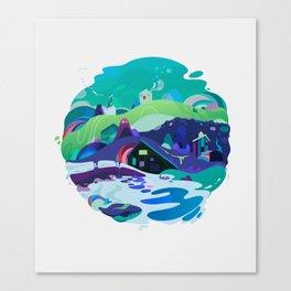 blue sphere Canvas Print