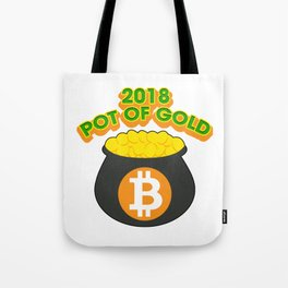 2018 Pot Of Gold Bitcoin St Patricks Day Tote Bag