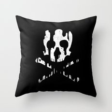 Skullmelt Throw Pillow