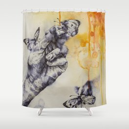 Swarmed Shower Curtain