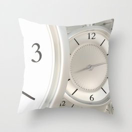 Clocks Throw Pillow