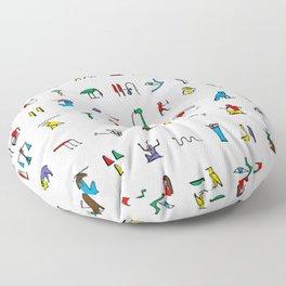 Egyptian hieroglyphics pattern Floor Pillow