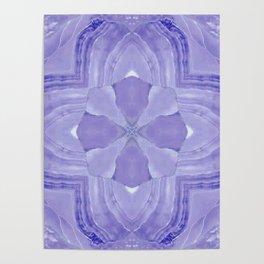 Jade Agate Stone Flower Violet Poster