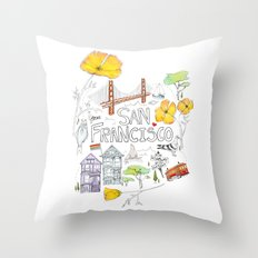 Friends + Neighbors : San Francisco Throw Pillow