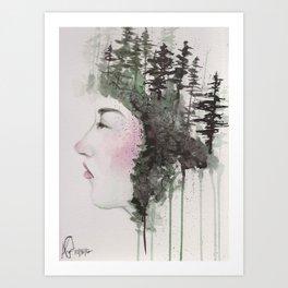"""Sometimes, even the snow is sad."" Art Print"