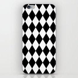 Black and White Liquorice Pattern iPhone Skin