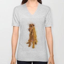 Irish Terrier Unisex V-Neck