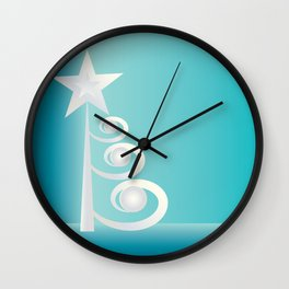 Pearls for Christmas Wall Clock