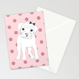 Nelly the Boxer Stationery Cards