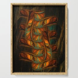 Abstract Totem Serving Tray
