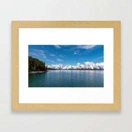 Jackson Lake 2-Tetons Framed Art Print