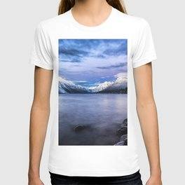 Wallpaper USA Glacier Montana Nature Mountains Lak T-shirt
