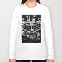 mythology Long Sleeve T-shirts featuring Shadow Beast Mythology by Anya Campbell by BohemianBound