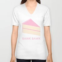 cake V-neck T-shirts featuring Cake by NeoQlassical