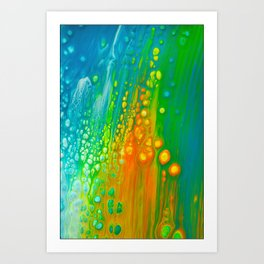 Aqua orange Art Print