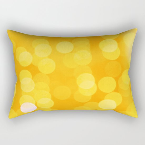 Disco Fever in Yellow Rectangular Pillow