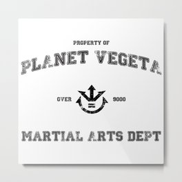 Planet Vegeta Martial Arts Department Metal Print
