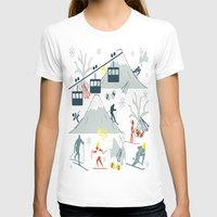 ski T-shirts featuring SKI LIFTS by BLUE VELVET DESIGNS