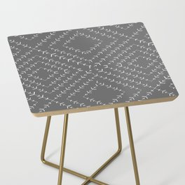 Gray and white varied vines Side Table