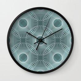 Circled in Shades of Teal Wall Clock