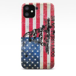 Viper N Bullet Holes On Old Glory - Gadsden and American Flag iPhone Case