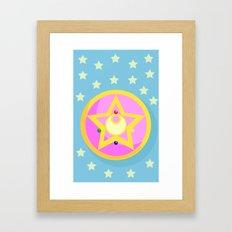 Sailor Moon Transformation 1  Framed Art Print