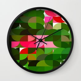Pink Roses in Anzures 5  Abstract Circles 1 Wall Clock