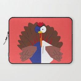 Braveheart Thanksgiving Turkey In Cartoon Style Laptop Sleeve